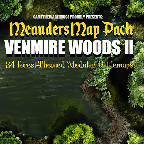 Venmire Woods II: Roll20 Meanders Map Pack