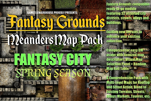 Spring Fantasy City: Fantasy Grounds Meanders Map Pack