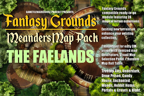 The Faelands: Fantasy Grounds Meanders Map Pack