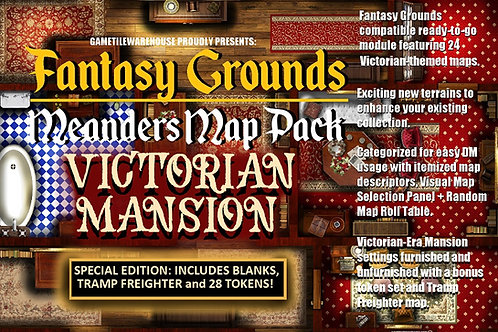 Fantasy Grounds Meanders Map Pack: VIctorian Mansion