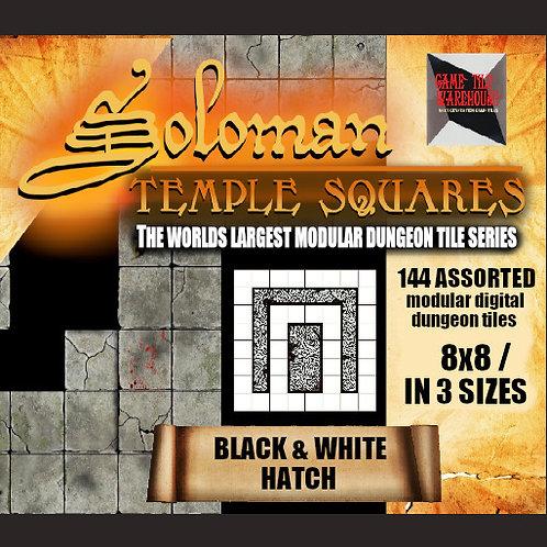 Soloman Temple Squares - BLACK/WHITE HATCH