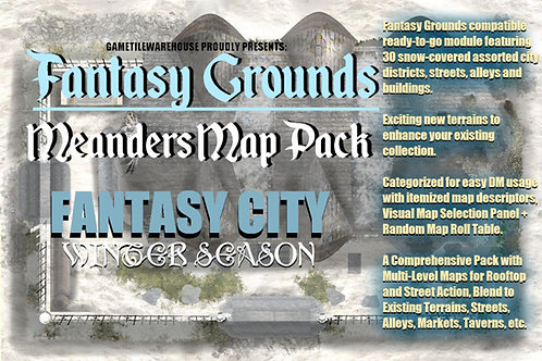 Winter Fantasy City: Fantasy Grounds Meanders Map Pack