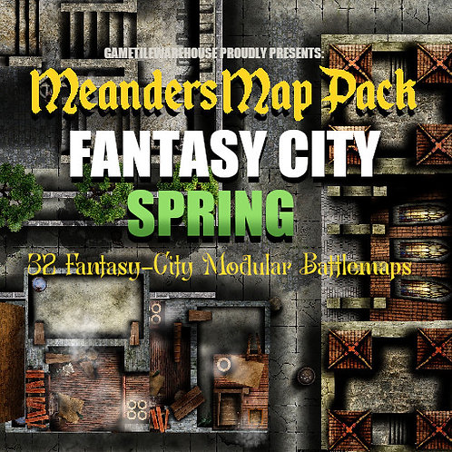 Fantasy City SPRING: Roll20 Meanders Map Pack