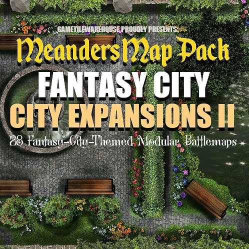 Fantasy City Expansion II: Roll20 Meanders Map Pack