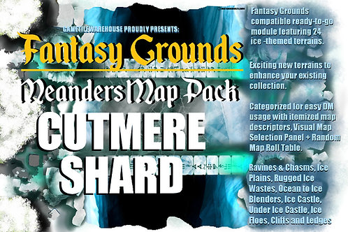 Cutmere Shard: Fantasy Grounds Meanders Map Pack