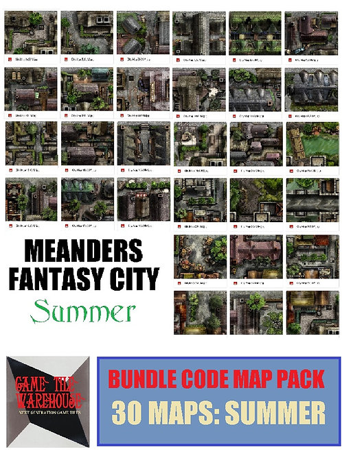 Meanders 4: SUMMER Fantasy City Map Bundle Code