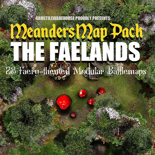 The Faelands: Roll20 Meanders Map Pack