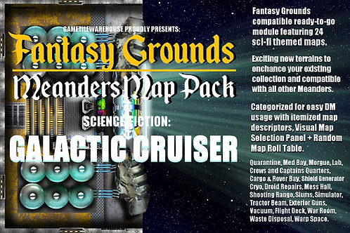 Galactic Cruiser: Fantasy Grounds Meanders Map Pack