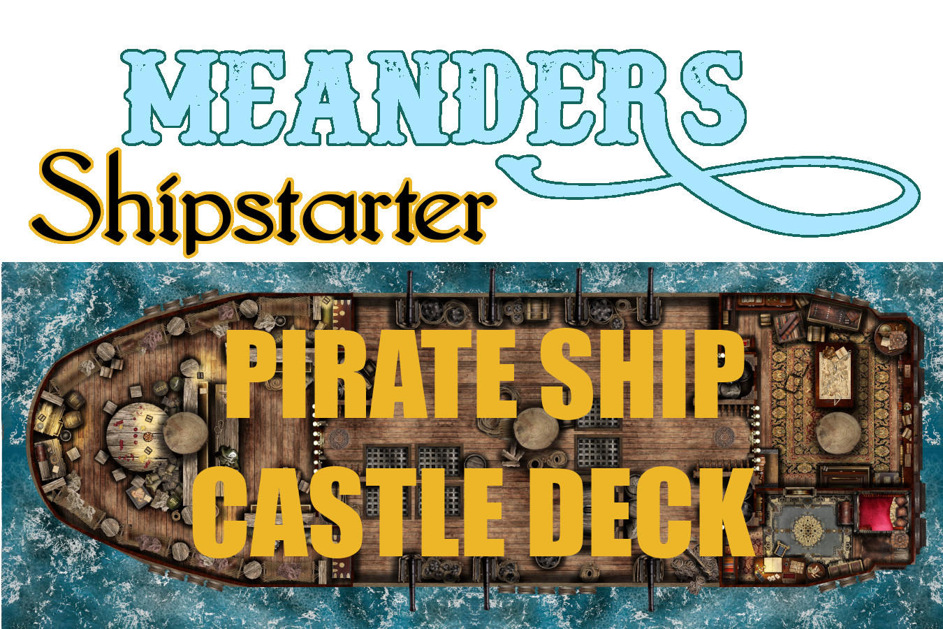 Shipstarter Pirate Galleon Castle Deck