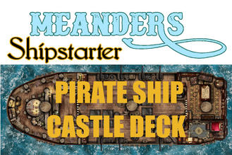 Shipstarter Pirate Galleon Castle Deck