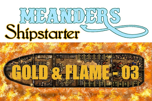 Shipstarter Gold and Flame -  C