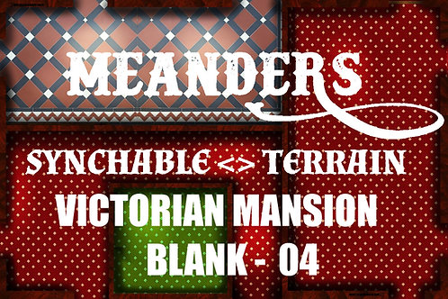 Victorian Mansion Meanders - Blank 04