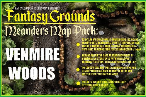 Venmire Woods: Fantasy Grounds Meanders Map Pack