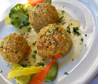 Fish Bites with Crumb Topping