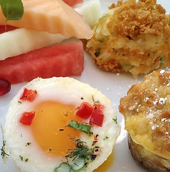 Baked Egg with French Toast Bacon Bites