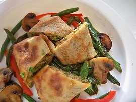 Roast Beef & Vegetable stuffed Crepes