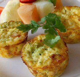 Broccoli Egg & Cheese Breakfast Bites