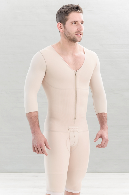 6036 - Men Compression Garment Three Quarter Sleeve & Knee Length