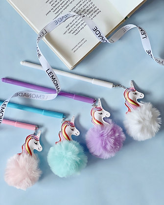 Pom Pom Unicorn Gel Pens