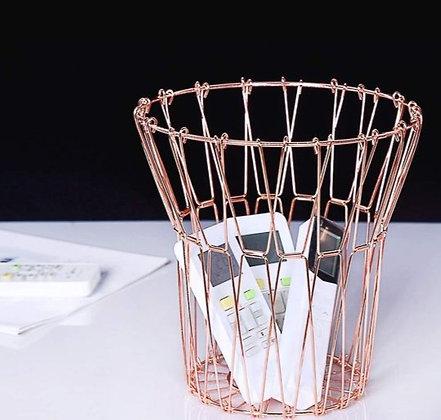 Multipurpose Rose Gold Foldable Basket