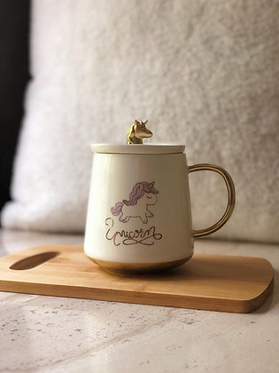 Coffee Mug - Unicorn - Matte Lid
