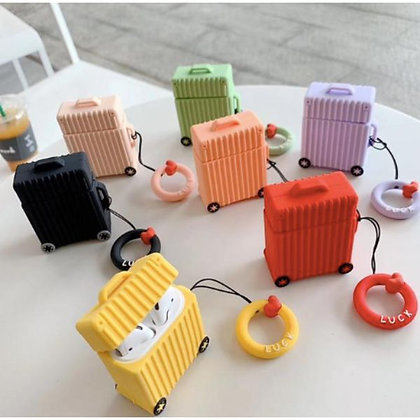 AirPod Case - Suitcase - Yellow