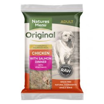 Natures Menu Original Chicken with Salmon Complete Dinner with vegetables