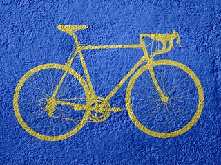 Arte Bicicleta Amarela