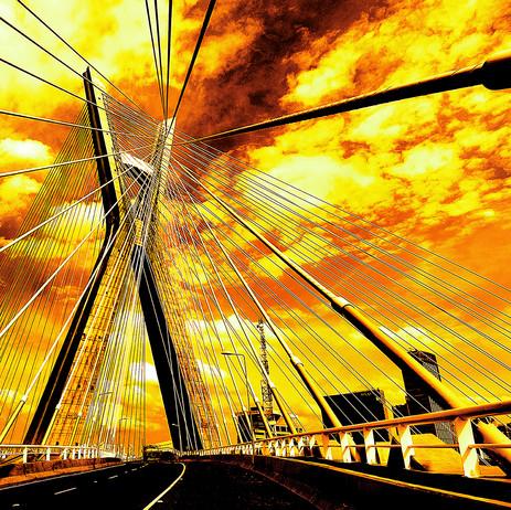 """Obra """"Ponte Estaiada"""", 2008"""