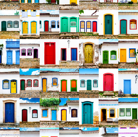 """Obra """"Paraty I Portas Coloridas"""", 2012"""