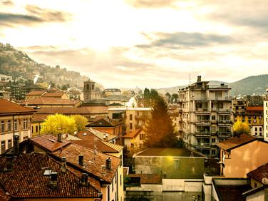 Amanhecer Como Itália