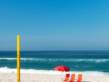 Praia e cores