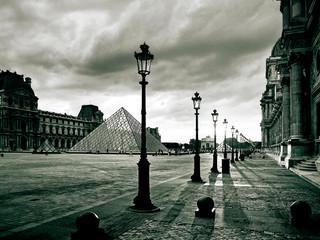 Paris Louvre Fim de Tarde