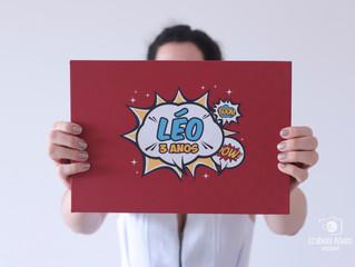 Álbum de aniversário - Leo 3 anos
