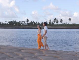 Ensaio pré-wedding na praia!