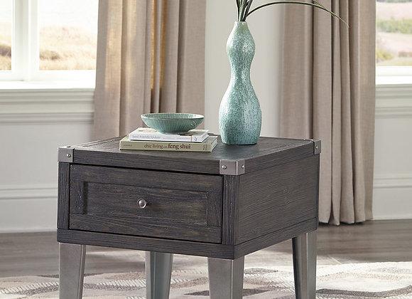 Todoe End Table (Dark Gray)