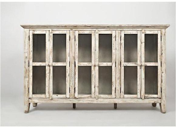 Rustic Shores Accent Cabinet (Vintage White)