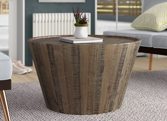 Solid Wood Drum Coffee Table