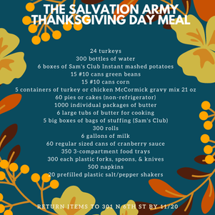 Help Serve Our Community Thanksgiving Dinner