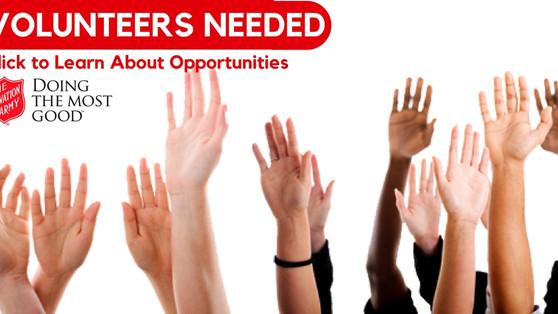Volunteers Needed for Holiday Season