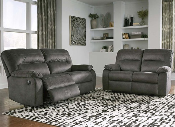 Bolzano Reclining Sofa & Loveseat in Slate