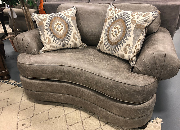 Palance Gray Chair and a Half ( Loveseat )