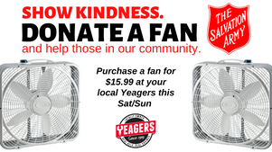 Yeagers Ace Hardware Hosts Fan Drive for Community in Partnership with The Salvation Army