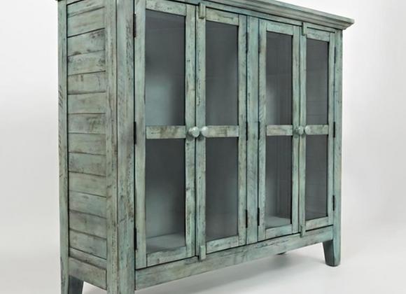 """Rustic Shores Accent Cabinet (Vintage Blue) 48"""""""