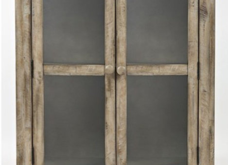 """Rustic Shores Accent Cabinet (Weathered Grey) 32"""""""