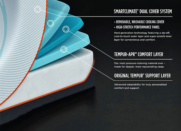 Temp Pro-Adapt Firm Mattress Cutaway