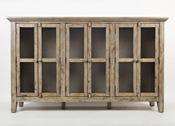 Rustic Shores Accent Cabinet (Weathered Grey)