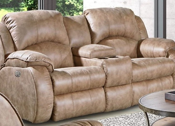 Cagney River Run Power Reclining Loveseat and Power Headrest in Vintage