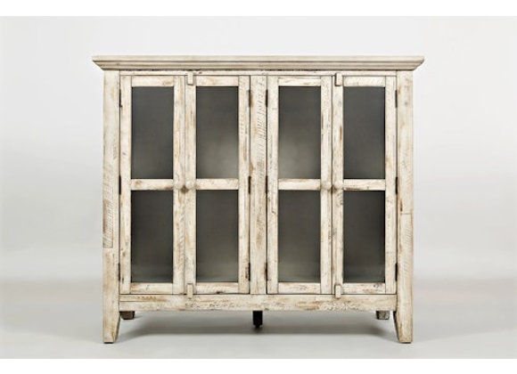 "Rustic Shores Accent Cabinet (Vintage White) 48"""