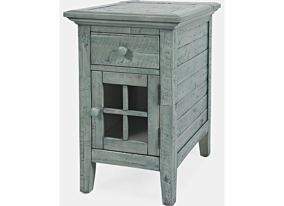 Power Accent Table (Vintage Blue)